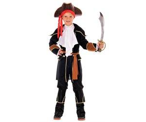 Fasching Pirat Kost/üm Kind Gr. 92-104// XS Magicoo Kapit/än Piratenkost/üm Kinder Jungen Rot-Gold