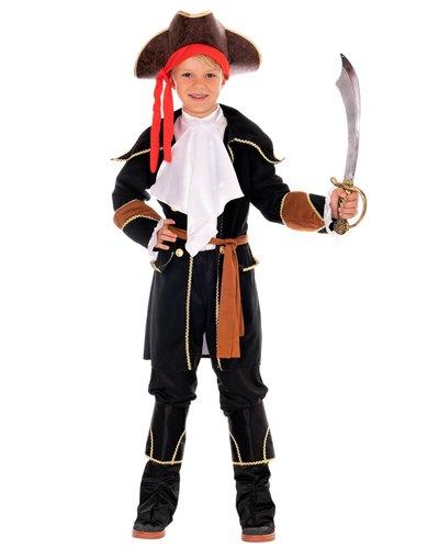 Magicoo Pirat Kapitän Schwarz/Braun für Kinder