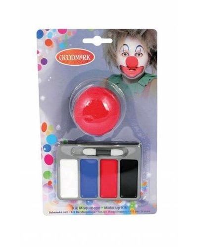 Goodmark Make-Up Set Clown 6-teilig