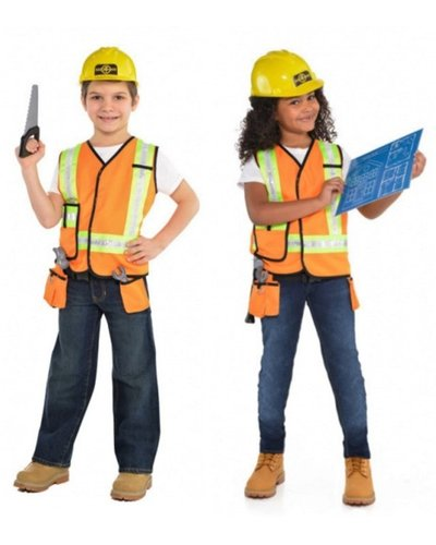 Amscan Bauarbeiter / Bauarbeiterin Set  für Kinder