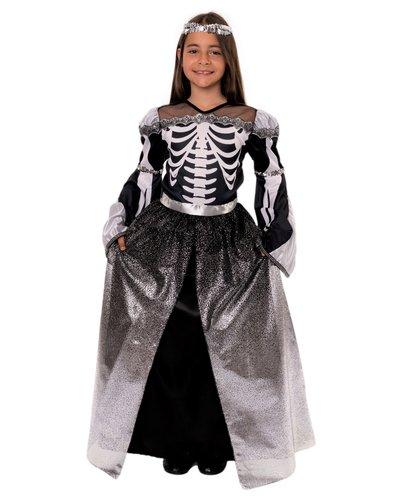 Skelettprinzessin Kostüm für Mädchen