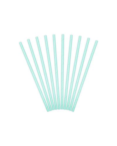 Magicoo 10 Trinkhalme aus Papier türkis