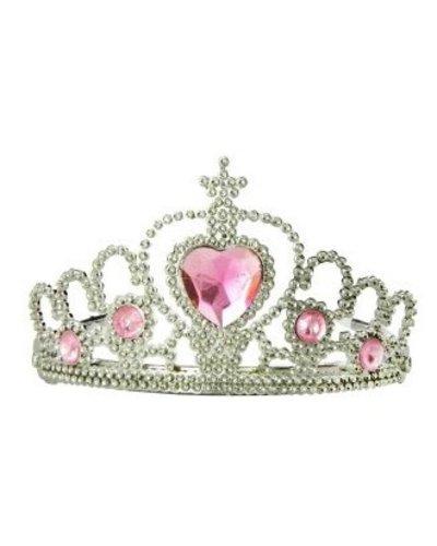 Magicoo Prinzessin Diadem mit rosa Steinen