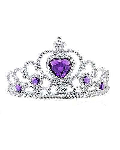 Magicoo Prinzessin Diadem mit lila Steinen