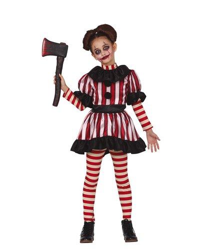 Magicoo Halloween Clown Kostüm für Mädchen
