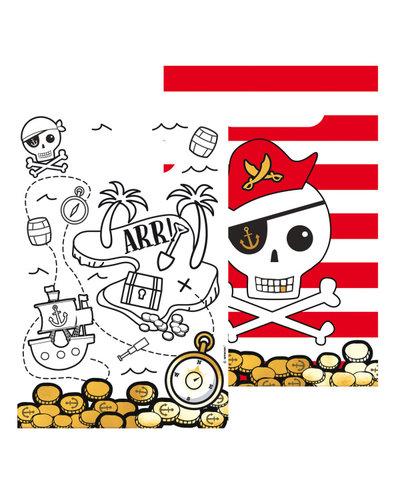 Magicoo 8 Geschenktüten Piraten aus Papier