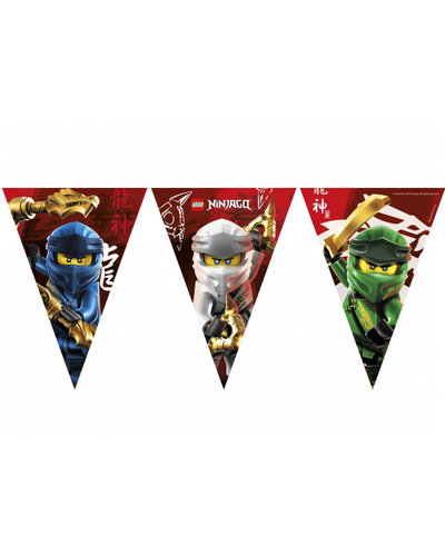 Magicoo Wimpelgirlande Lego Ninjago - 9 Flaggen
