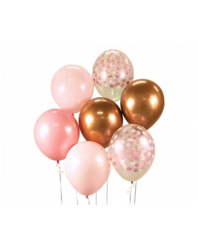 Magicoo Ballonbouquet rosa/kupfer- 7 Stück