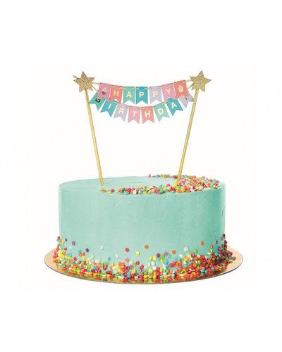 Magicoo Kuchen / Tortendeko Happy Birthday regenbogen