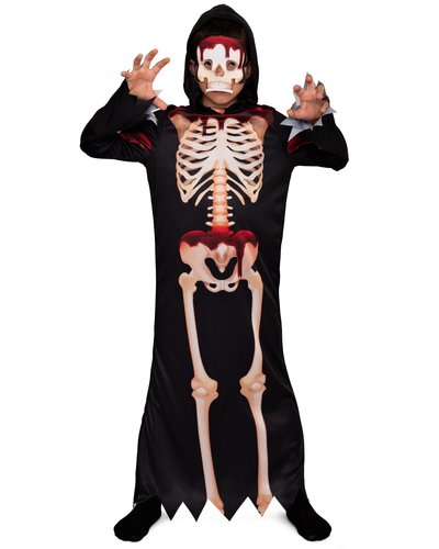 Magicoo Blutiger Skeleton Kostüm für Kinder