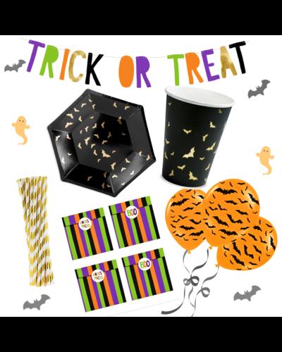 Magicoo Buntes Halloween Party Set schwarz gold
