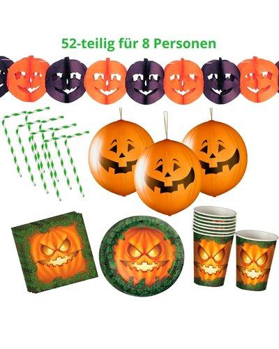 "Magicoo Halloween Deko Party Set ""Kürbisse"" orange/grün"