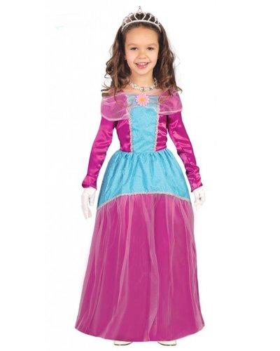 Magicoo Prinzessin Kostüm für Mädchen rosa türkis
