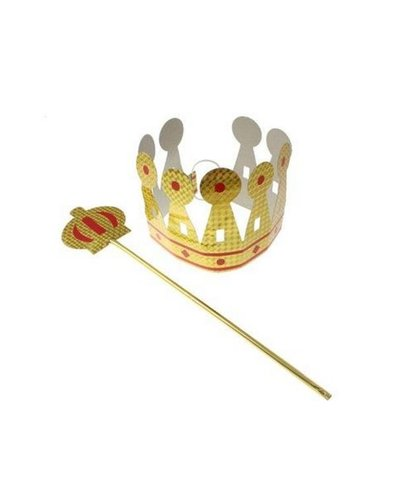 Magicoo König-Set: Krone und Zepter gold