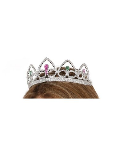 Magicoo Diadem silber mit bunten Steinen