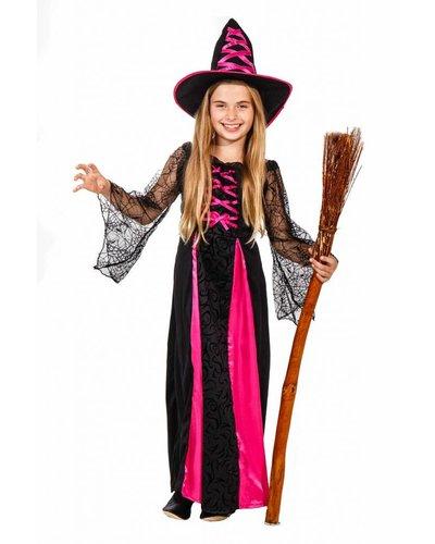 Magicoo Zauberhexe - Hexenkostüm für Kinder pink schwarz