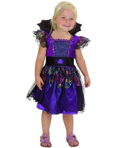 Magicoo Kleine Spinderella - Spinnenkönigin Kostüm - Vampir Kostüm Kleinkind Größe 92-104 lila
