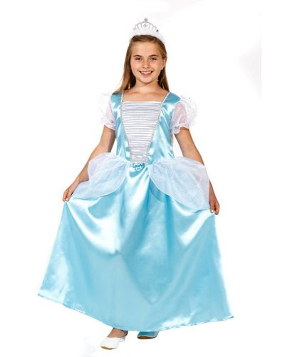 """Magicoo Prinzessin Kostüm himmelblau """"Aschenputtel"""" für Kinder"""