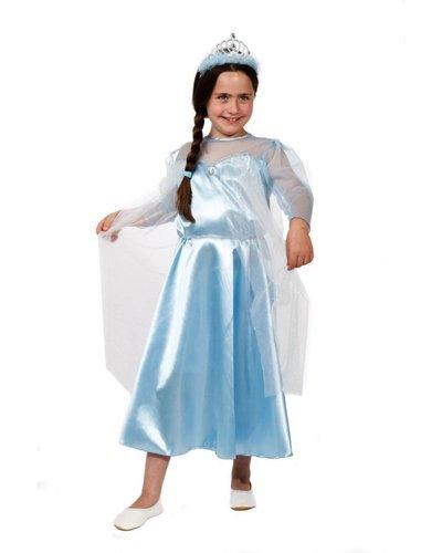 Magicoo Schneeprinzessin Kostüm für Kinder mit Diadem