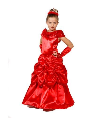 Magicoo Rotes Prinzessinenkleid für Mädchen