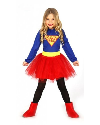 Magicoo Supergirl - Superheldin Kostüm für Kinder