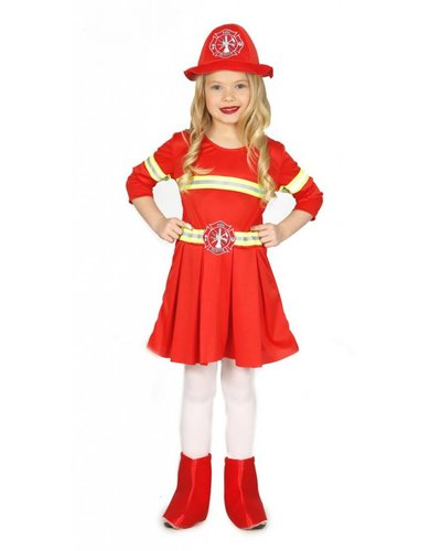 Magicoo Feuerwehrkostüm für Mädchen