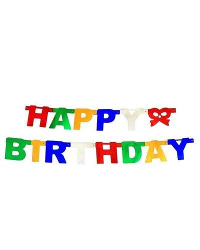"Magicoo Wimpelgirlande 1,5 Meter lang ""Happy Birthday"""