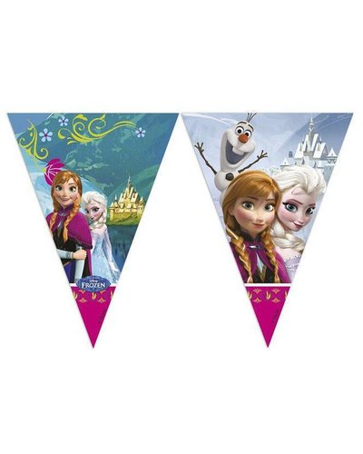 Magicoo Wimpelgirlande 230 cm lang mit Frozen-Motiv