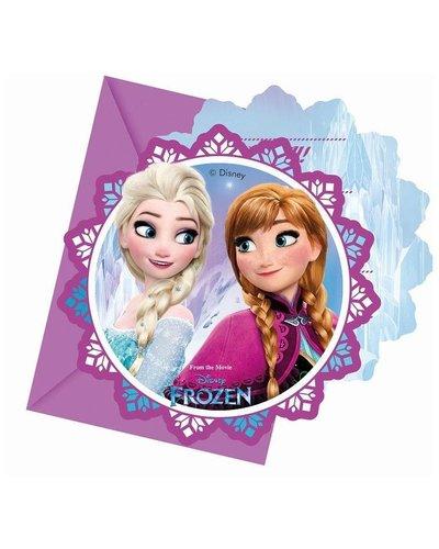Disney 6 Einladungskarten zur Party mit Frozen-Motiv