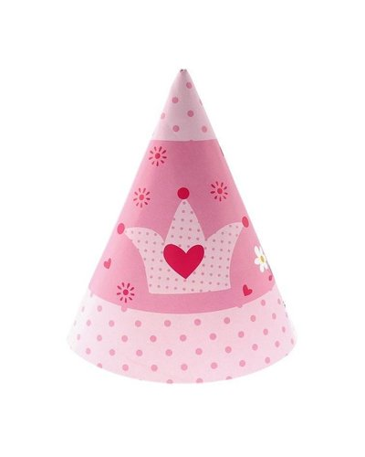 Magicoo Rosa Partyhüte für Prinzessinnenparty