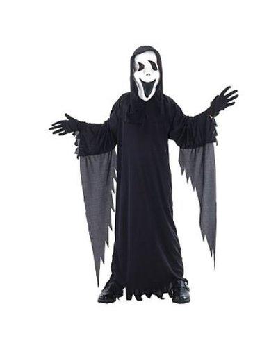 Magicoo Scream Kostüm für Kinder - der Schwarze Gespenst
