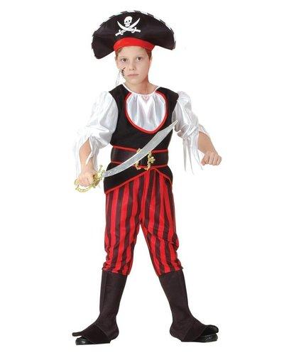 Magicoo Karibischer Kapitän - Piraten Kinder Kostüm