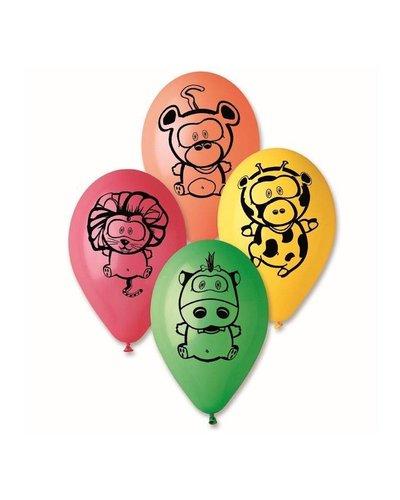 Magicoo 5 Luftballons Safari - Wildtiere
