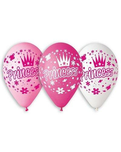 Disney 5 Luftballons mit Prinzessin-Motiv