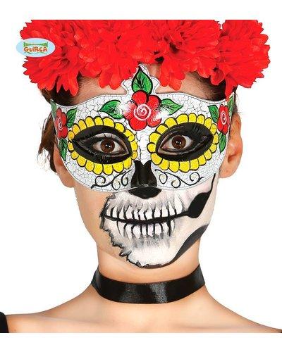 Magicoo Skelett Maske in bunten Farben