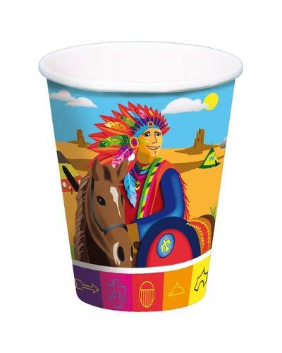 Magicoo 8 Becher für Indianerparty