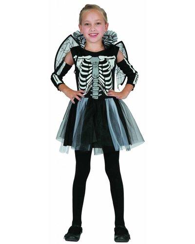 Magicoo Sklettmädchen mit Flügeln - Skelett Kostüm für Mädchen