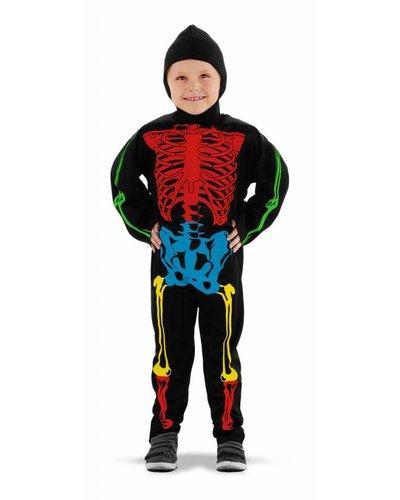 Magicoo Buntes Skelett Kostüm für Kinder Skelett Kostüm Jungen