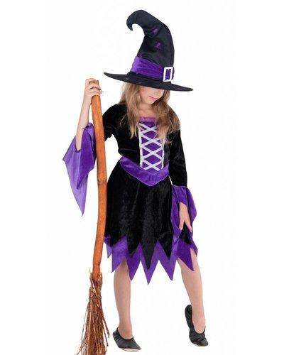 Magicoo Magierin Hexenkostüm für Kinder violett