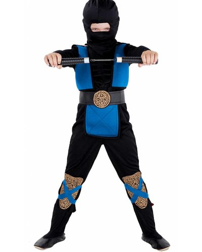 Magicoo Ninja Kostüm Kinder blau-schwarz