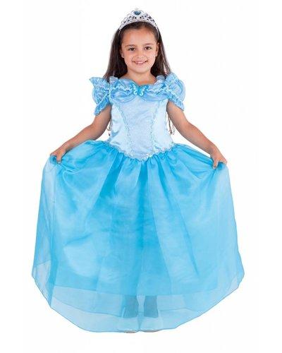 Magicoo Prinzessin Kostüm blau für Kinder  Aschenputtel
