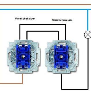 Busch-Jaeger Wisselschakelaar 2000/6 USK met controlelampje