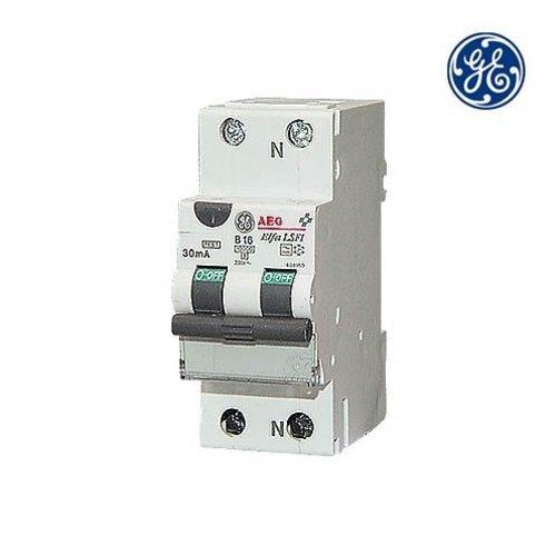 General Electric Aardlekautomaat 1P+N 16A 0,03A C-kar Type A