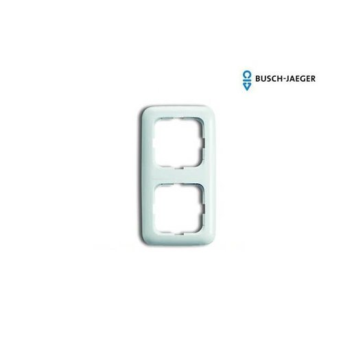 Busch-Jaeger Afdekraam 2-voudig SI alpin wit
