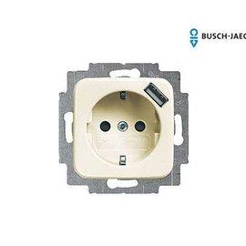Busch-Jaeger Wandcontactdoos USB SI creme