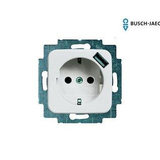 Busch-Jaeger Wandcontactdoos USB SI alpin wit