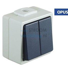 Opus Serieschakelaar staalblauw