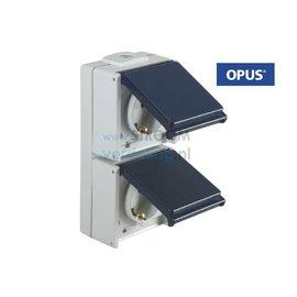 Opus WCD 2-voudig Verticaal staalblauw