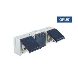Opus WCD 3-voudig Horizontaal staalblauw