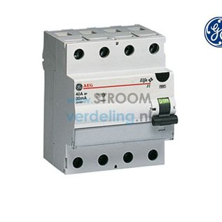 General Electric Aardlekschakelaar 4P 40A 30mA